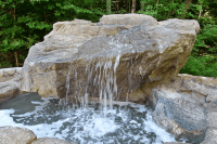 Custom pool waterfalls, water features, ponds & backyard ...