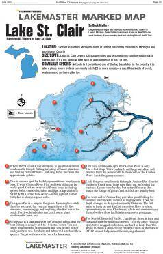 Lake St Clair Fishing Maps : clair, fishing, Clair, Marked, MidWest, Outdoors