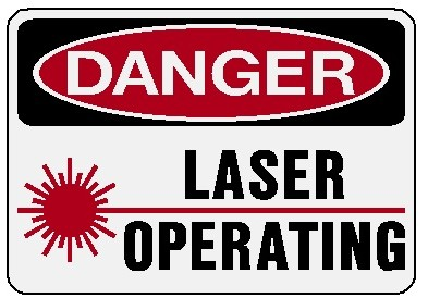 Danger - Laser Operating Image