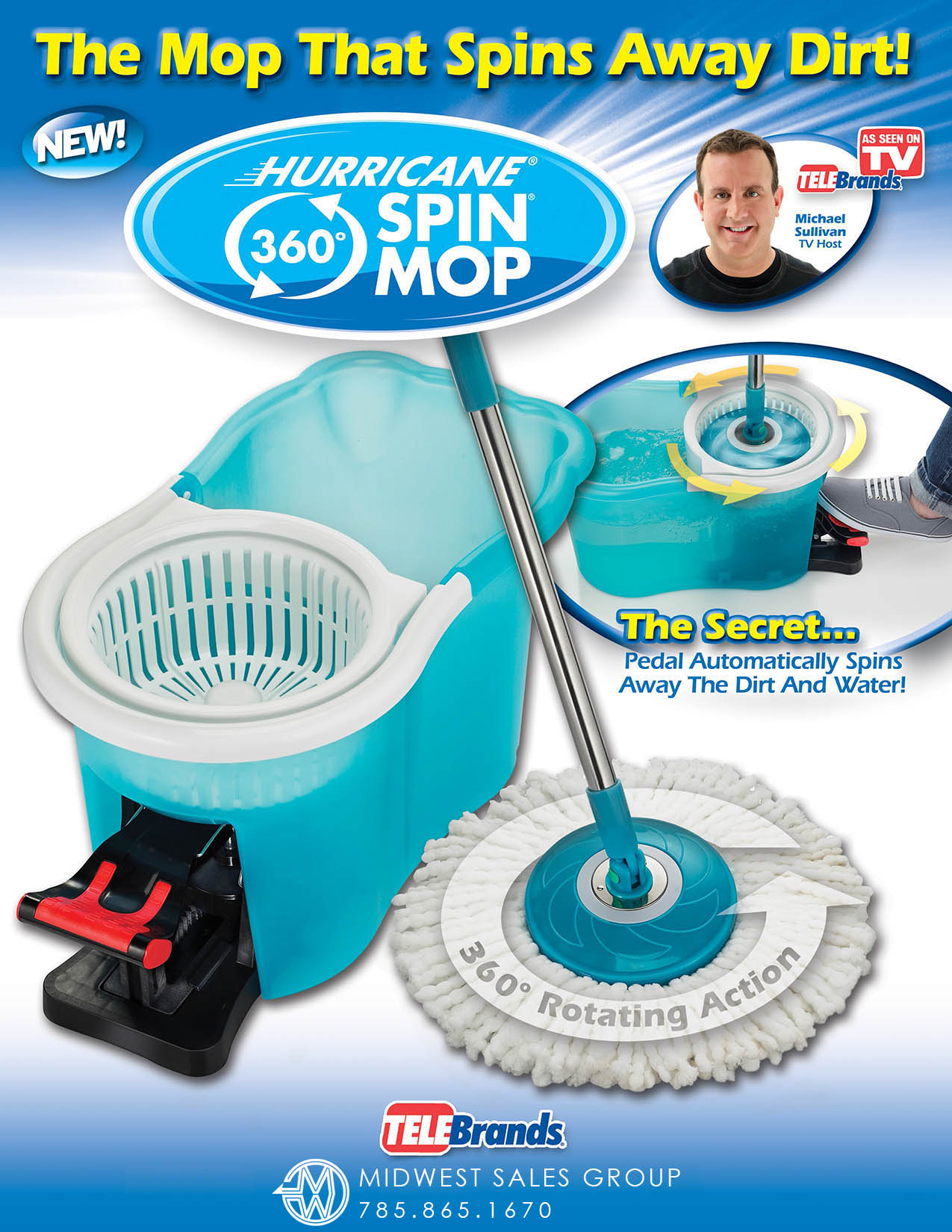 Midwest Sales Group Hurricane Spin Mop