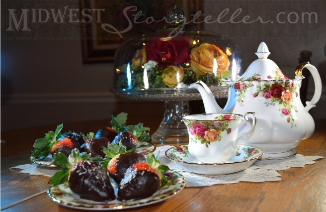 Chocolate Covered Strawberries and a Cup of Tea www.midweststoryteller.com