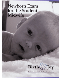 Newborn Exam For The Student Midwife DVD