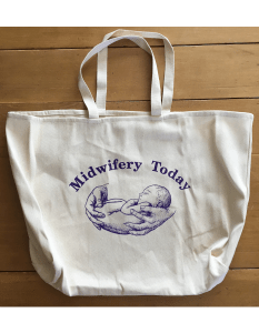 Natural Midwifery Today Logo Tote Bag