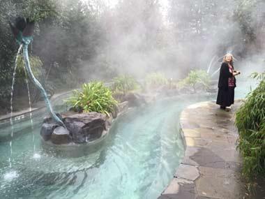One of the artful soaking pools at McMenamins Edgefield
