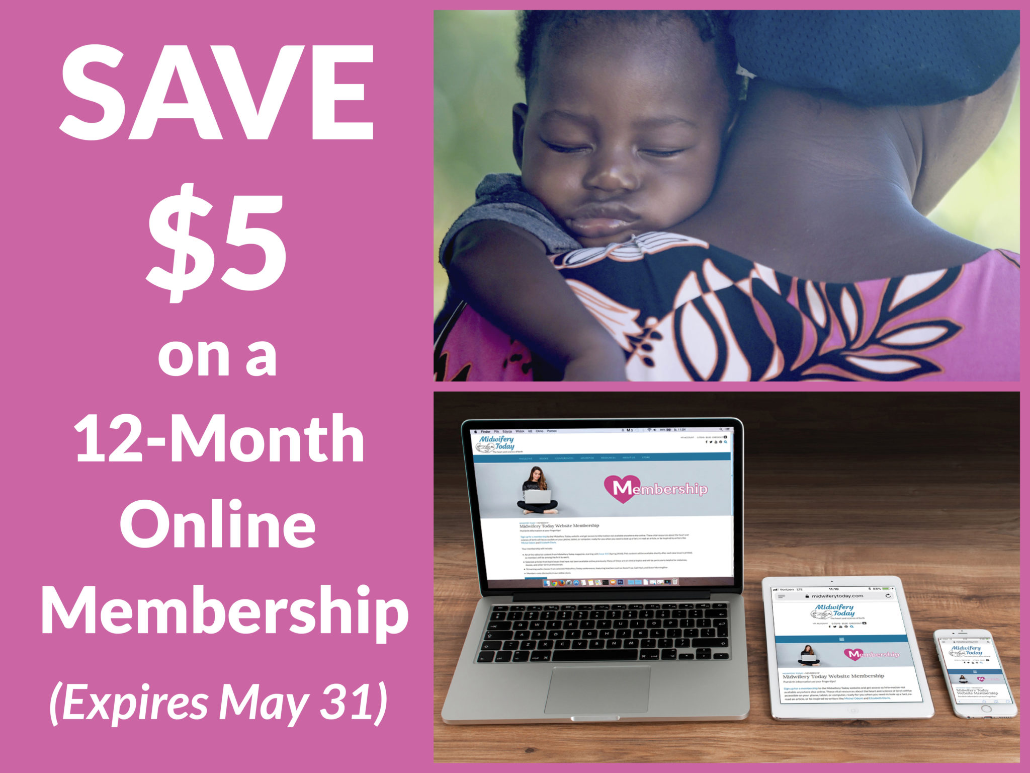 Save $5 on a 12-month Online Membership