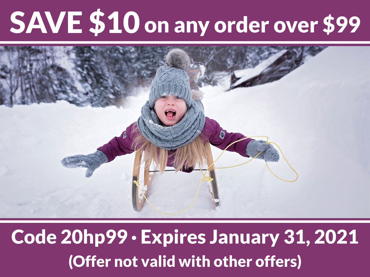 SAve $10 on any order over $99
