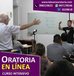 Curso virtual de Oratoria (Domingos 10:30 am  a 12: 45 m). Inicio 7 Febrero