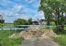 2015-06-23 W Lipinie (gm. Radwanice) przeprowadzono ekshumację szczątków (fot. POMOST)