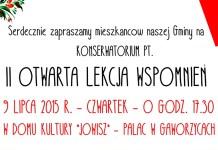 2015-07-09 Gaworzyce: Otwarta lekcja wspomnień już dziś