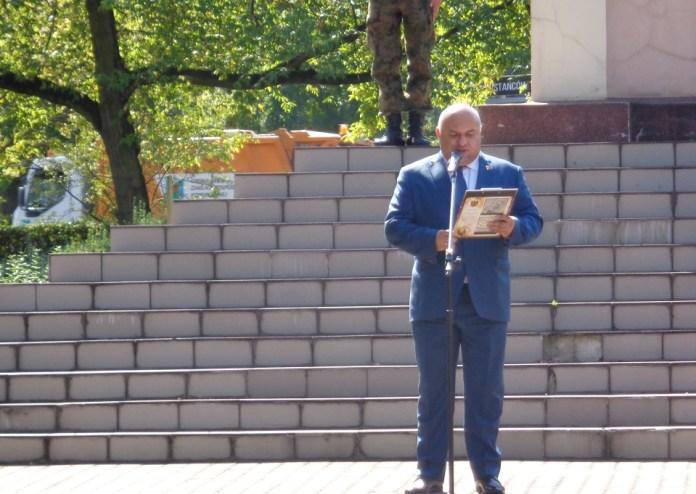 2015-09-01 Glogowskie Obchody 76. rocznicy wybuchu II wojny światowej @Pomnik Koalicji Antyhitlerowskiej (fot. A. Błaszczyk) 2