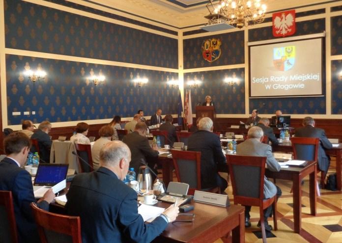 """2015-09-16 Głogowscy radni o podatku do kopalin """"Region może zostać doprowadzony do ruiny"""" @Sala Rajców (fot. A. Błaszczyk)"""
