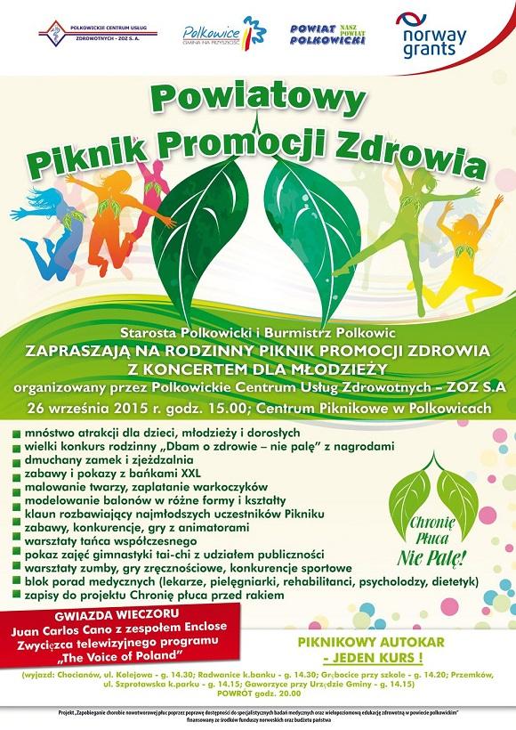2015-09-22 Piknik pełen atrakcji @Centrum Piknikowe, Polkowice (plakat)2