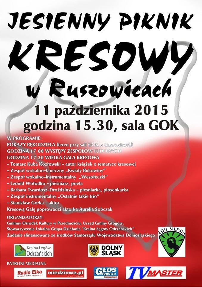 2015-10-10 Jesienny Piknik Kresowy @GOK Ruszowice (plakat)2
