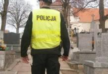2015-10-27 Zadbajmy o swoje bezpieczeństwo na cmentarzach (fot. KPP Głogów)