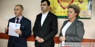 2016-02-22 MOPS Głogów konferencja prasowa Rodzina 500 Plus - R.Rokaszewicz, B.Kowalkowska, A.Mazur