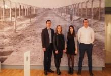 Styczeń 2016 r., 71 Rocznica wyzwolenia obozu Auschwitz, Berlin, przedstawiciele Volkswagena i ZS w Chocianowie
