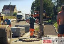 TutajGLOGOW.pl Głogów ul. Rudnowska remont drogi prace budowlane drogowe robotnicy maszyny