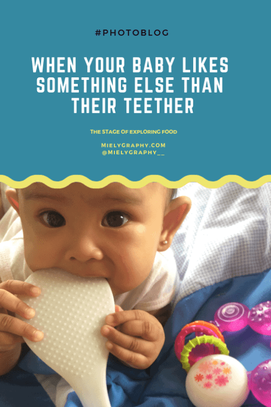 When your baby likes something else than their teether