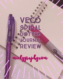 Veco Spiral Dotted Journal Review