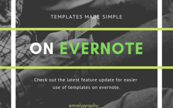 Using templates are now made easier on Evernote
