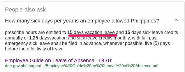 Leave Policy for Filipino Employees