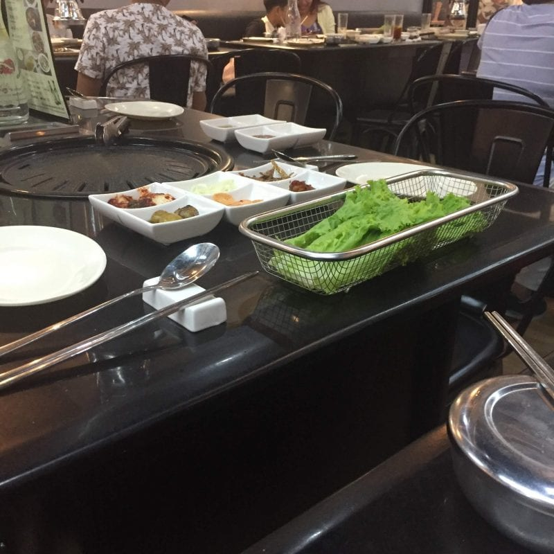 Samgyeopmasarap sm bacoor side dishe and food review