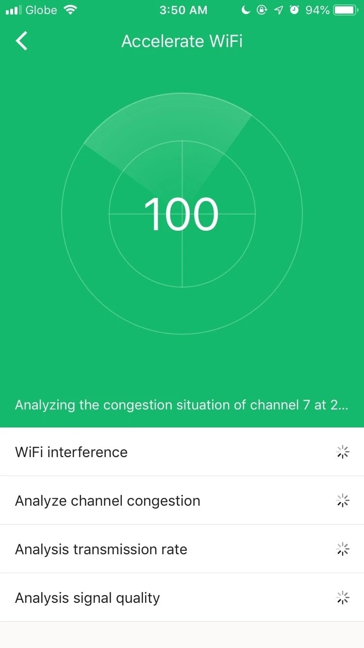 Wi-Fi Optimization on the app