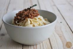 Fettuccini bolognesa 1
