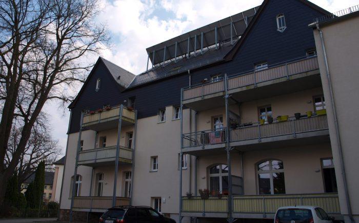 Das ehem. Hohensteiner Rathaus von Hinten
