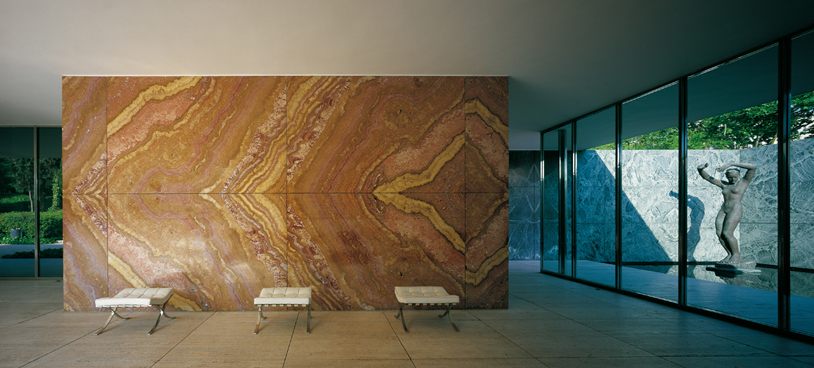Barcelona pavilion interior - The Barcelona Pavilion Was Designed By Ludwig Mies Van Der Rohe As The