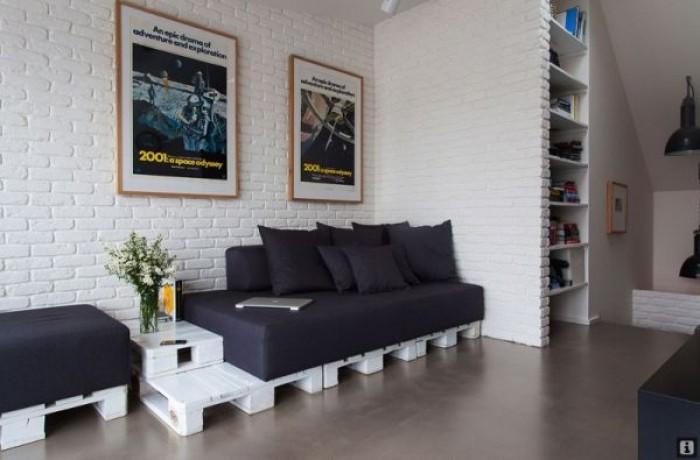 Mieszkanie na paletach  Mieszkaniowe inspiracje