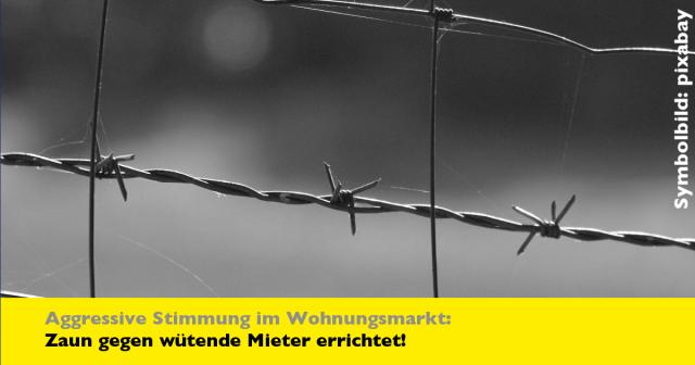 Aggressive Mieter: Deutsche Wohnen umzäunt Konzernzentrale