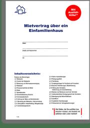 Mietvertrag Muster Kostenlos Download : mietvertrag, muster, kostenlos, download, Mietvertrag, Grund, Einfamilienhaus