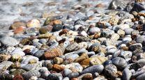 piedras de playa y la alimentación europea mediterránea