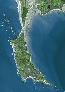 morbihan vue aerienne presqu'ile zone d'activité du poisson