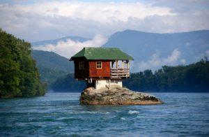 cabane de réve pour un pecheur sur une ile