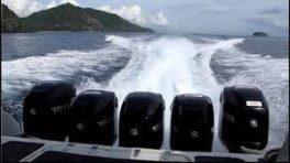 moteur hors bord pêche à la traine