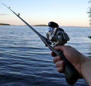 pêcher a une main