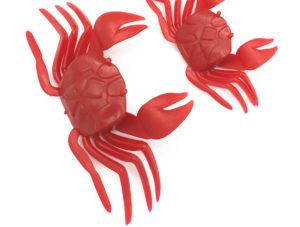 leurre crabes AliEXpress rouge pour la pêche