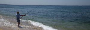 peche en surfcasting du bord plage