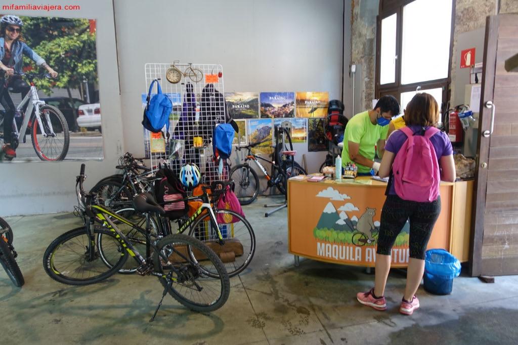 Alquiler bicicletas -Maquila Aventura