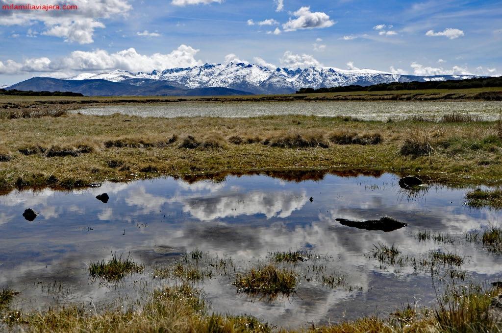 Reflejo de las nubes en la laguna