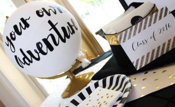 black-white-gold-graduation-party-via-karas-party-ideas-karaspartyideas-com27