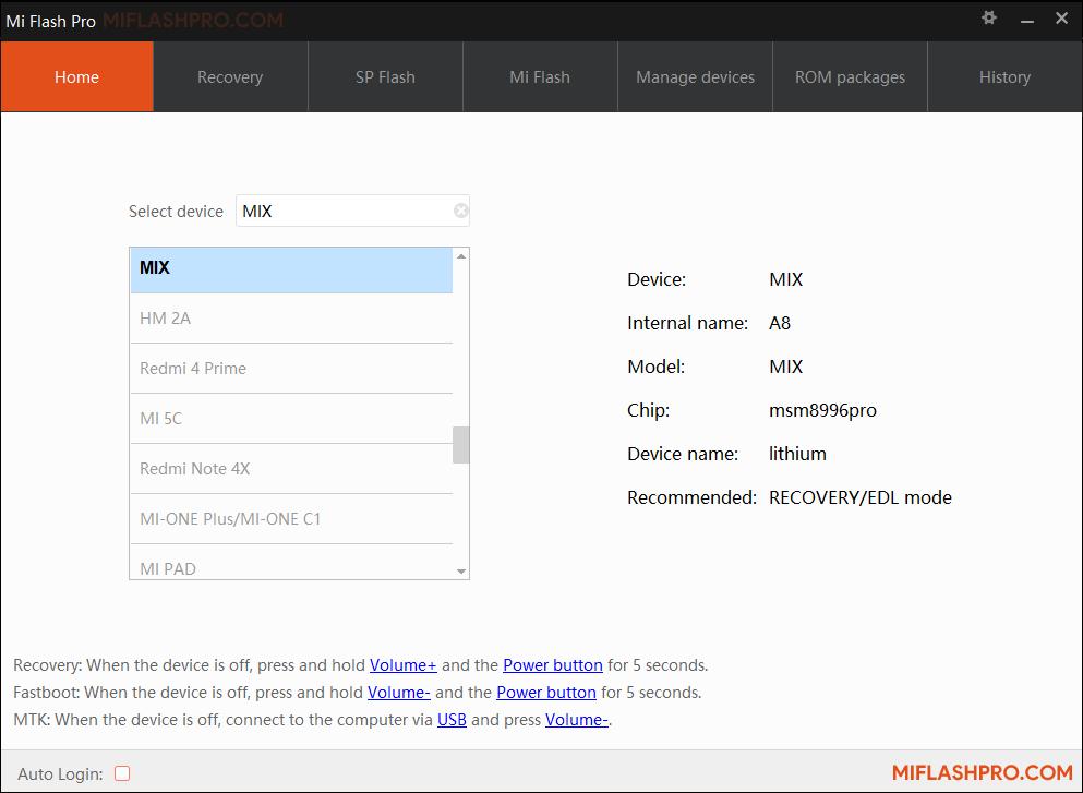 MiFlash Pro v5.3.1104.39