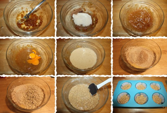 Muffins integrales avena PaP