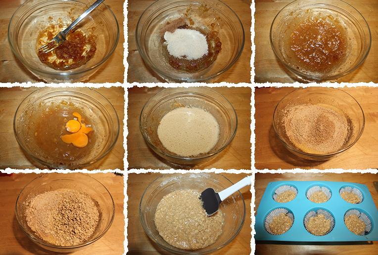Muffins integrales avena PaP
