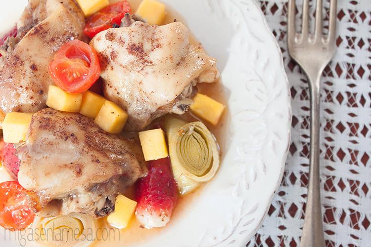 Pollo asado agridulce 1
