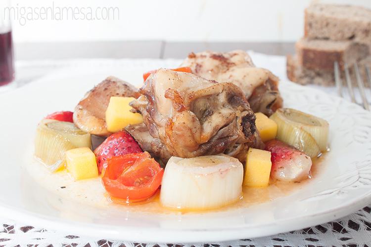 Pollo asado agridulce 2