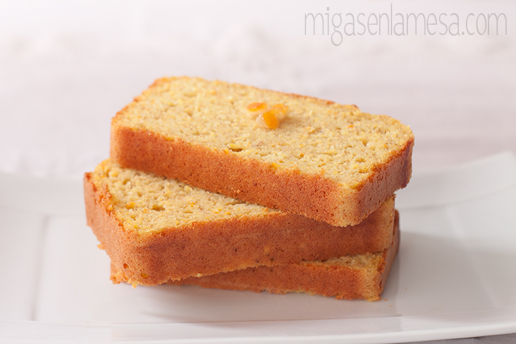 Bizcocho naranja estevia 5