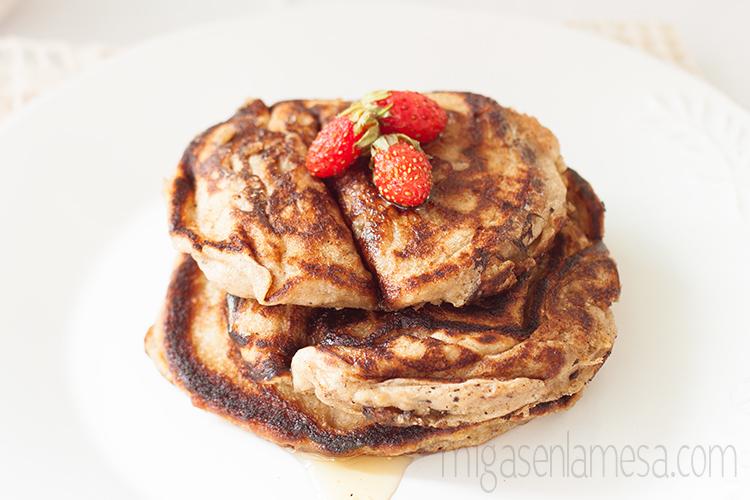 Tortitas de platano y avena, sin lactosa